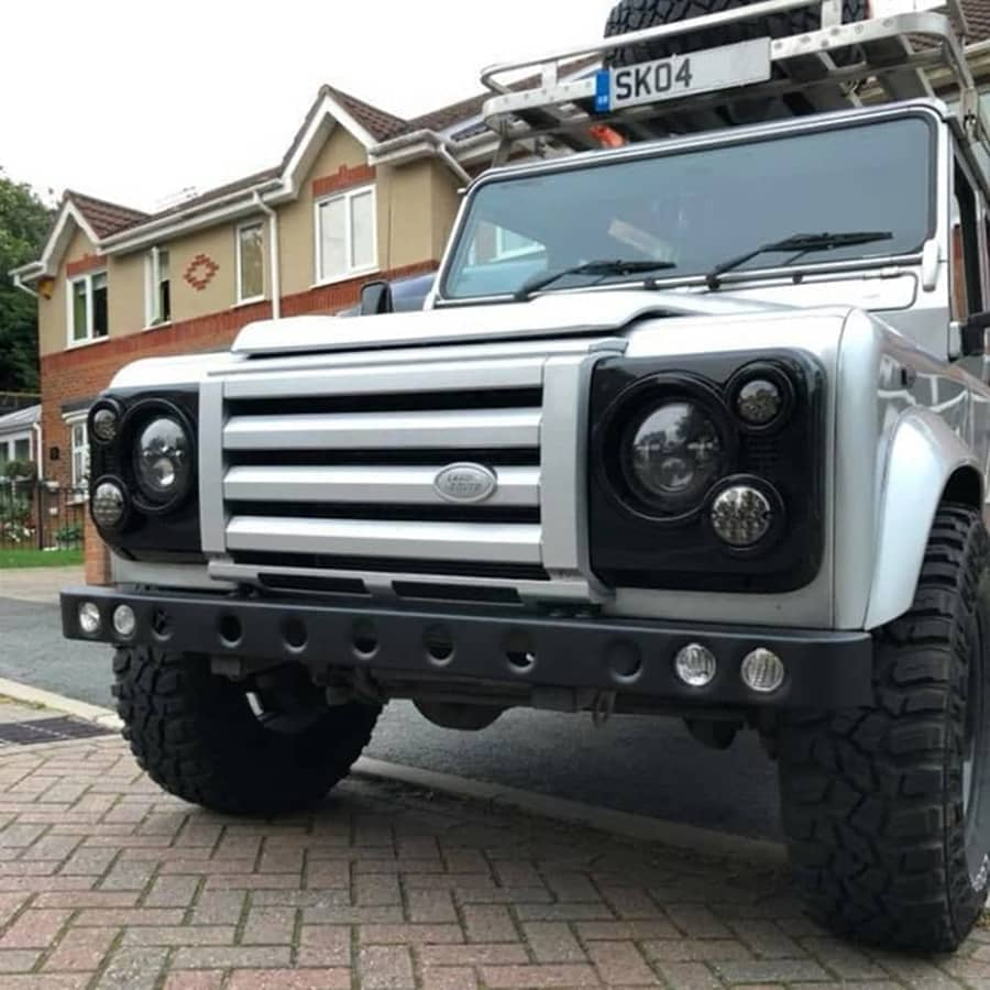 LS7805A Defender Stainless 5 Hole Bumper Twin DRL